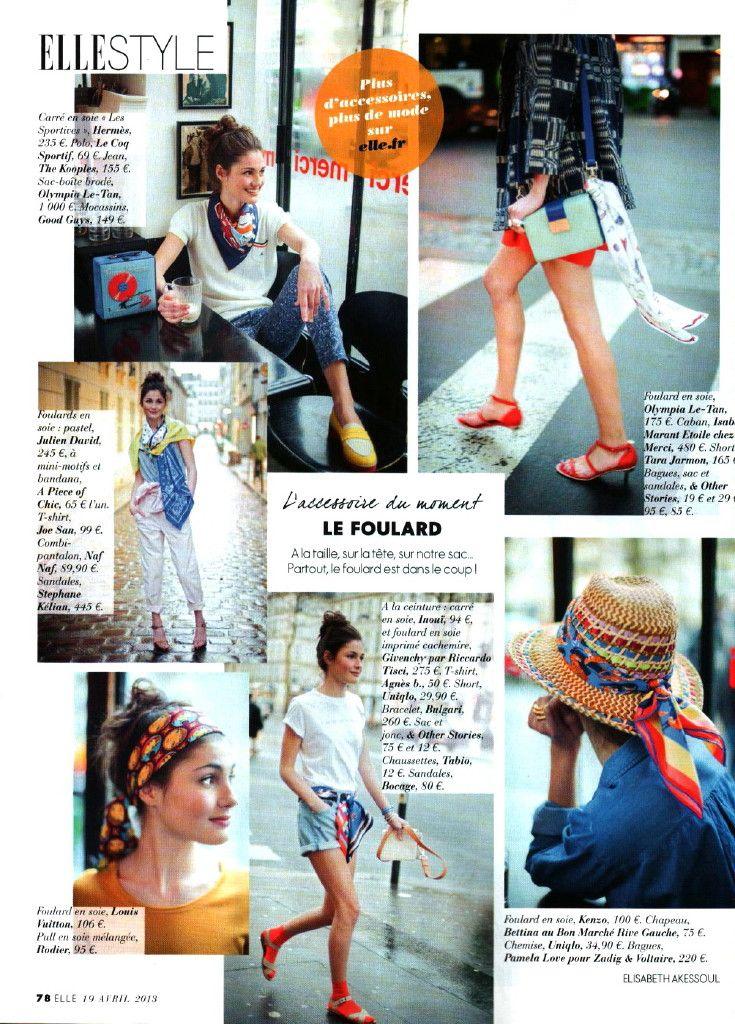 Le foulard - 20 Avril 2013 @ELLE Magazine (US) France
