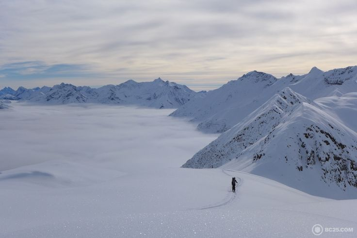 Skiing up the Low Col. #powder #snow #skiing #backcountry