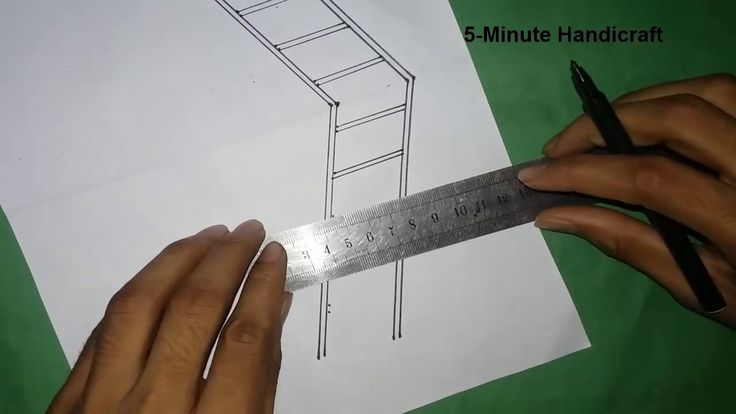 Diy 3D Ladder Drawing-Optical Illusion 100% Easy Way Draw Home