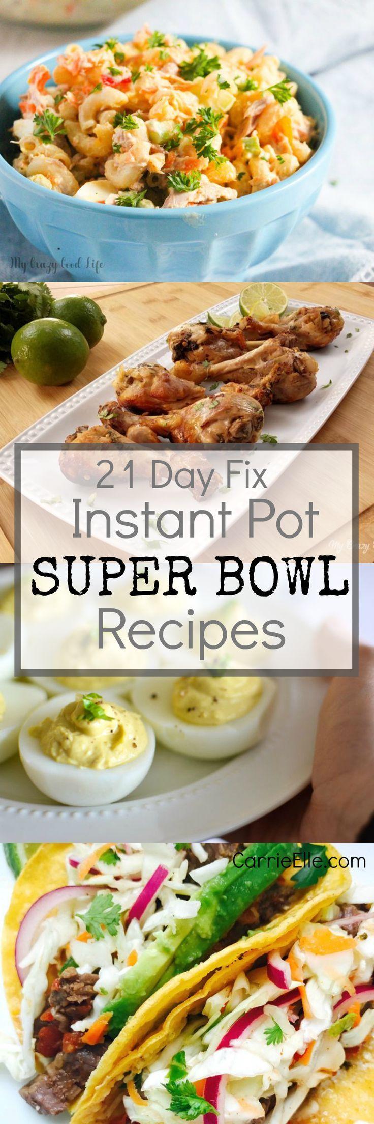 21 Day Fix Instant Pot Super Bowl Recipes