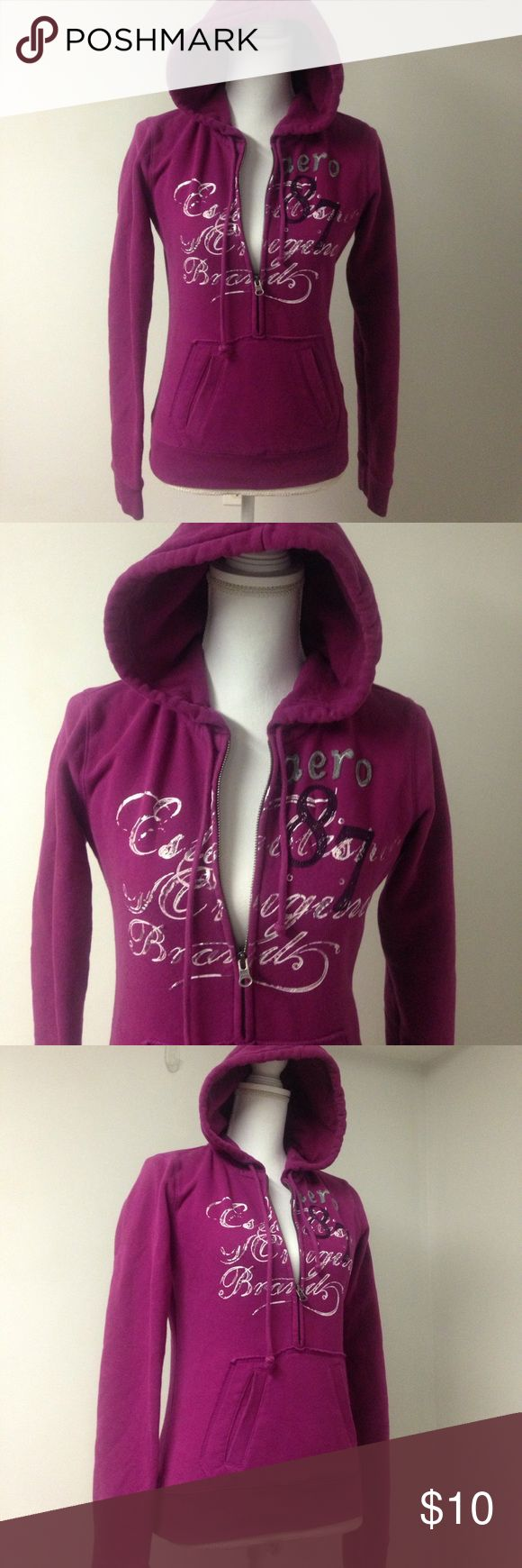 Aeropostale Purple Hoodie NWOT New without tags. The tags were removed but it wasn't used. Very comfortable great interior. Made with 70% cotton and 30% polyester. Half from zipper and kangaroo pocket. Aeropostale Tops Sweatshirts & Hoodies