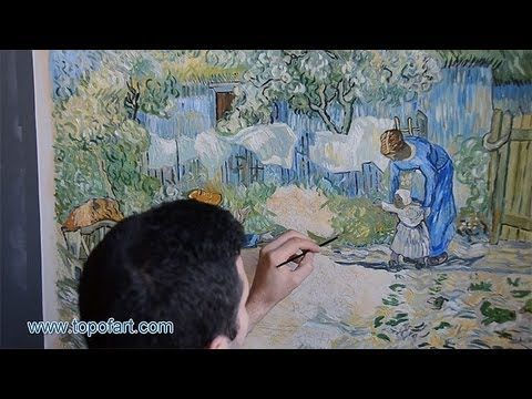 Art Reproduction (Vincent van Gogh - First Steps) Hand-Painted Oil Painting