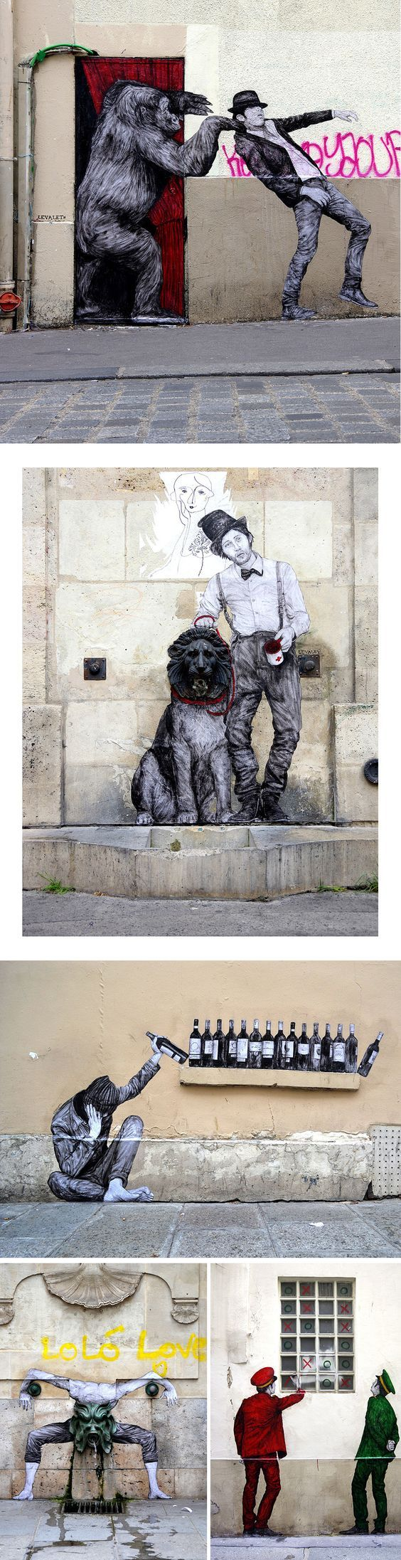 Quirky Site-Specific Wheatpastes by 'Levalet' Bring Humor to the Streets of Paris