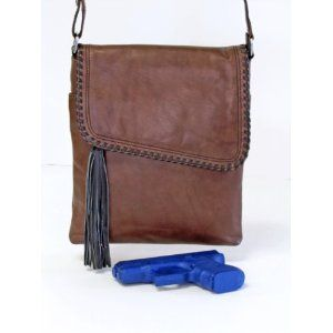 Concealed Carry Purse - Dedicated CCW Compartment - Gorgeous Leather Crossbody