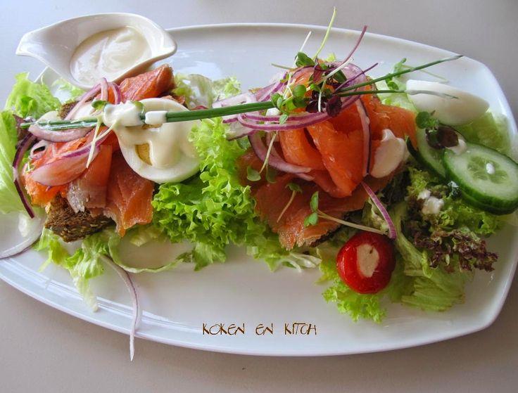 Koken en Kitch: Salade gerookte zalm