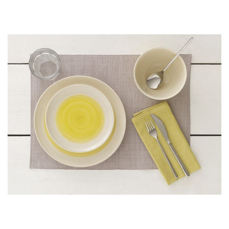 ATKINSON Yellow cereal bowl 16.5cm