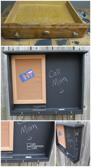 16 fabulous ways to repurpose old dresser drawers - command center
