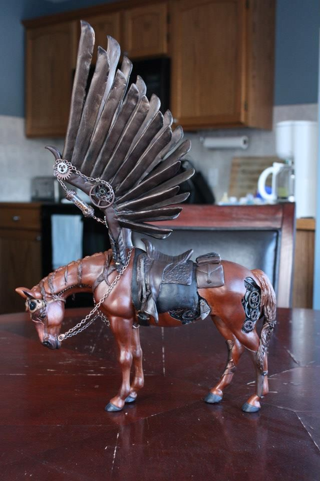 GORGEOUS Handmade Steampunk Horse by Epic Fail Studios.  Visit on FB for detail pics at https://www.facebook.com/pages/Epic-Fail-Studios/242737875736632