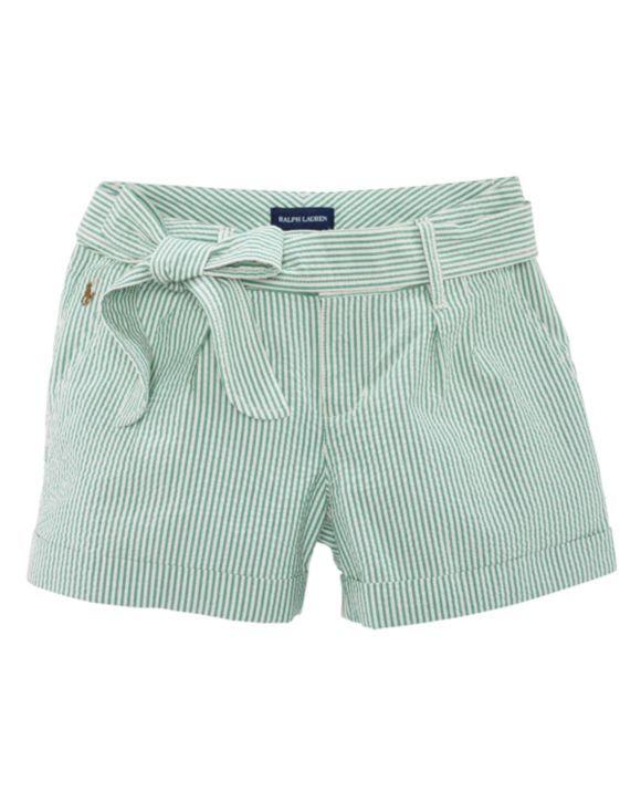 Ralph Lauren Childrenswear Toddler Girls' Seersucker Shorts - Sizes 2T-4T