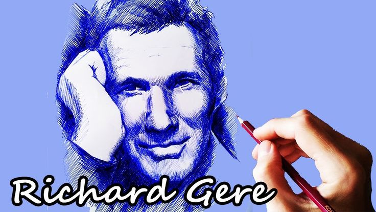 Drawing Richard Gere.