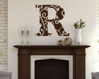 Monogram - Monogram Decal - Monogram Wall Decal - Custom Decals - Custom Wall Decals - Monogram Sticker - Rustic Decor - Wall Decals