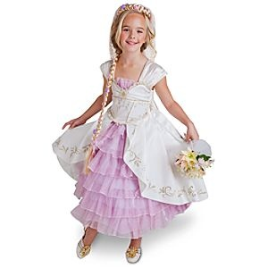 I am sure that there is a little princess in the family that would love a dress like this!Disney Stores, Wedding Dressses, Halloween Costumes, Gowns Halloween, Limited Editing, Costumes Dresses, Stores Limited, Wedding Gowns, Editing Tangled
