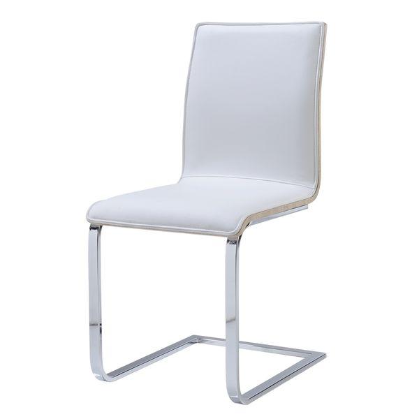 Global Sonoma White/ Chrome Upholstered Dining Chair (Dining Chair White PU  + Sonoma) (Faux Leather)
