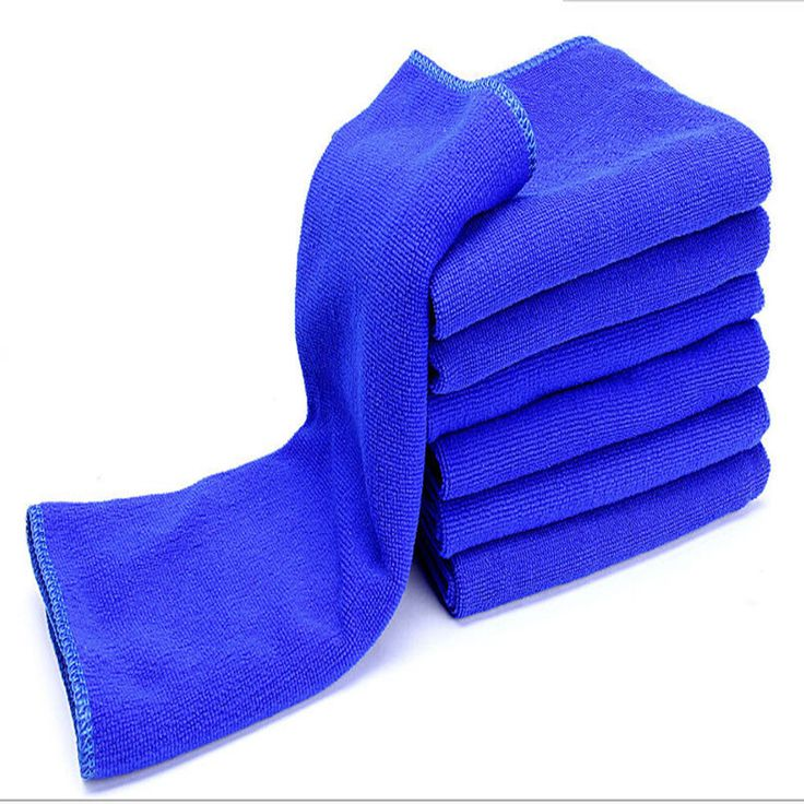 AUTO car-styling 6 unid azules 30*30 cm Soft car wash car detailing toalla de microfibra fieltro Auto Wash Dry Clean Paño Polaco Au 11