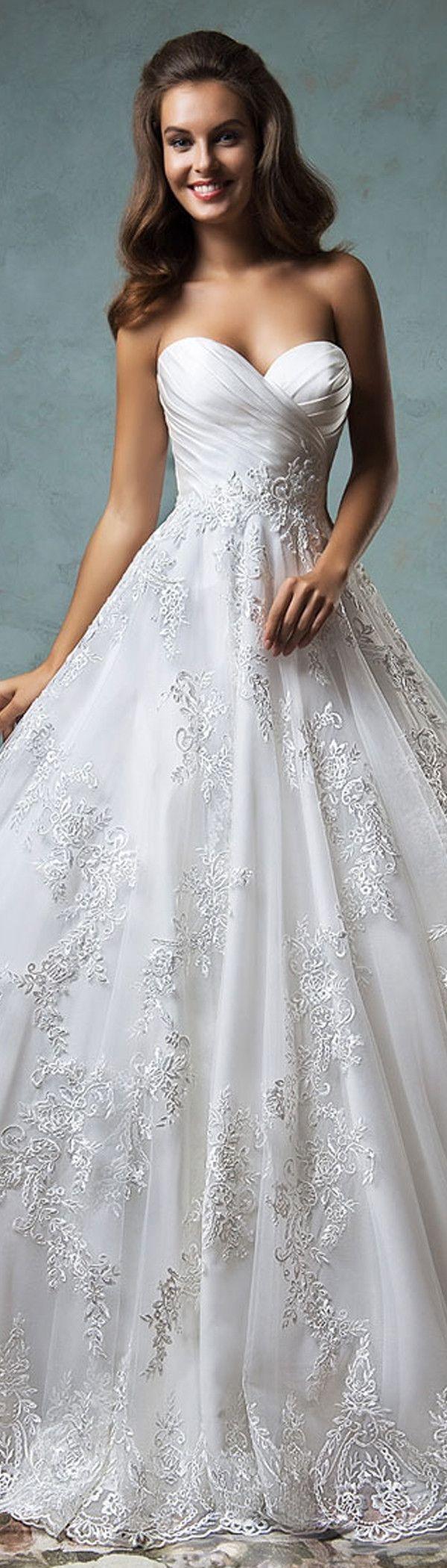 708 besten Satin Wedding Dresses Bilder auf Pinterest ...