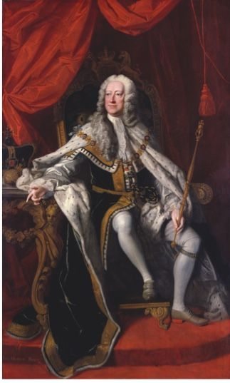 Thomas Hudson's 1744 portrait of George II. Britain's second Hanoverian king led his troops to victory over the French at Dettingen and triumphed at Culloden. Yet that didn't stop a Thames waterman yelling curses at him as he walked through his royal gardens © National Portrait Gallery