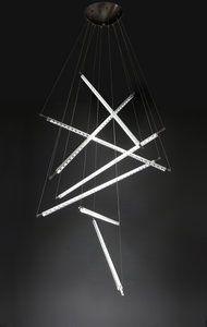 Quasar - Ixion 7- Hanglamp 2990,- Design: Maurizio Ferrari  De Ixion 7hanglampis een ontwerp van Maurizio Ferrari voor Quasar.  Materiaal: glas combinatie van helder en mat Afmeting: breedte 120cm,h...