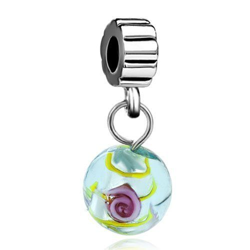 Pugster Murano Glass Bead Green Murano Glass Flower Dangle Fit Pandora Bead Charm Bracelet Pugster. $8.29. Unthreaded European story bracelet design. Fit Pandora, Biagi, and Chamilia Charm Bead Bracelets. Pugster are adding new designs all the time. Money-back Satisfaction Guarantee. Free Jewerly Box. Save 33%!