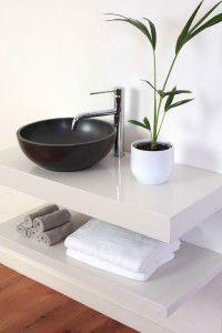 ROXX Floating Stone Vanity and matching shelf
