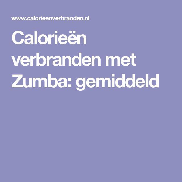 Calorieën verbranden met Zumba: gemiddeld