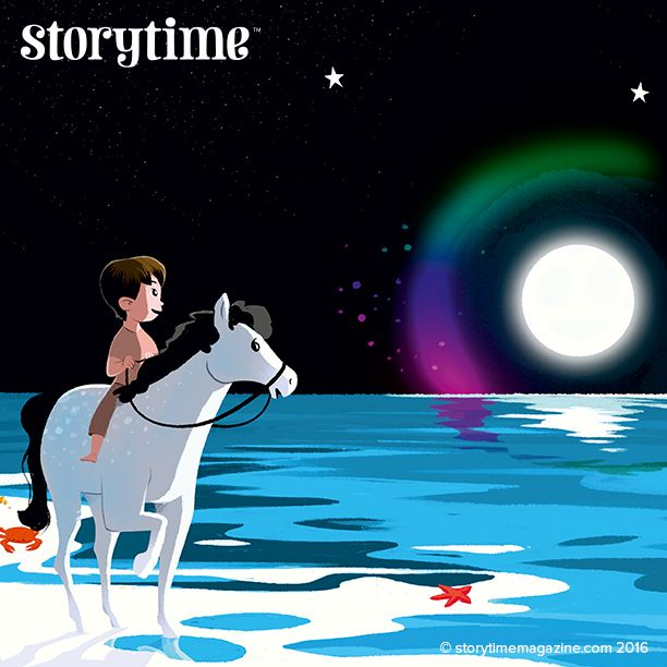 Storytime 25's sweet folk tale with fairies, stars and moonbows! Art by Carine Hinder (http://mipou.ultra-book.com) ~ STORYTIMEMAGAZINE.COM