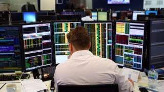 The FTSE 100 share index has risen above 7,000 for the first time since May 2015 as sterling fell to a 31-year low against the dollar.