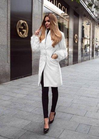 White Catya Coat | ChicDiva