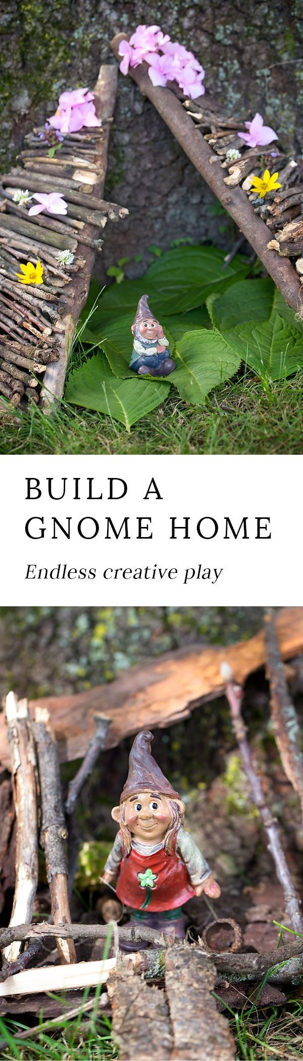 Backyard gnome homes invite children into a magical world where creative play is limitless. Get outside to play with your kids and release your inner child! via @https://www.pinterest.com/fireflymudpie/
