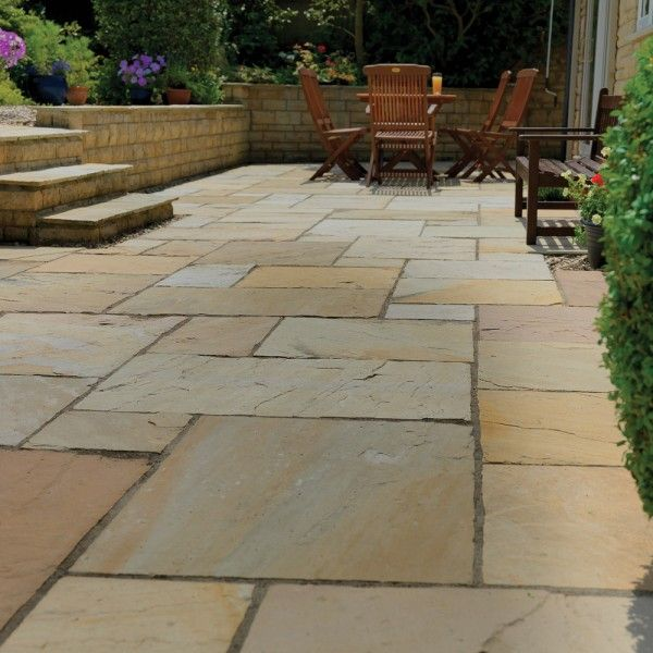 Pavestone Paving Riven Sandstone Buff PAVING SLABS