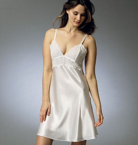 V8888, Misses' Robe, Slip, Camisole and Panties