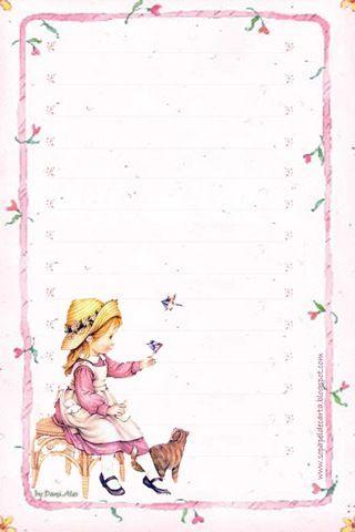 Lindos papéis de carta da Sarah Kay - Papel de carta da Sarah Kay para imprimir | Imagens pra vocês!