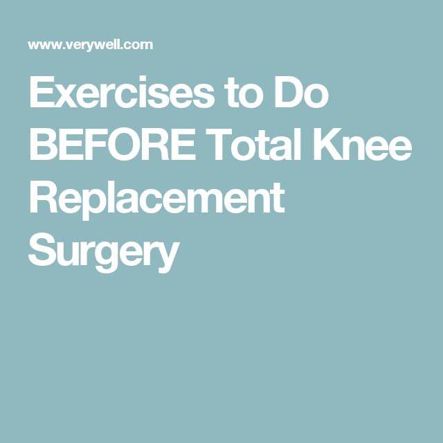 Exercises to Do BEFORE Total Knee Replacement Surgery