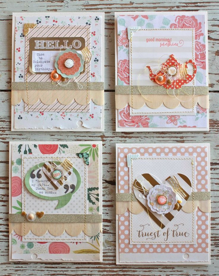 Mish Mash: Layered cards... using Gossamer Blue March Kits