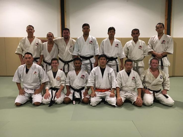 One of the very first classes at the brand new Machida Karate Academy