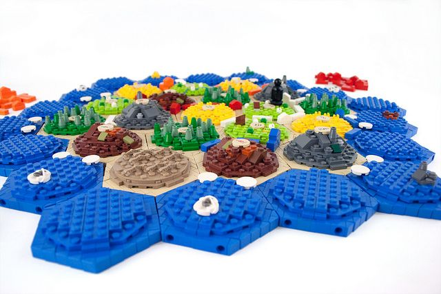 The Settlers of Catan lego-style