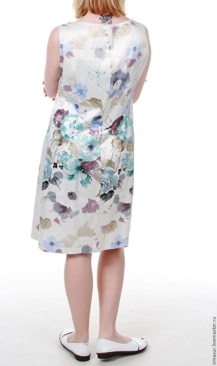 """Купить Летнее платье """" Пастельные цветы"""" - белый, цветочный, Платье нарядное, платье летнее"""