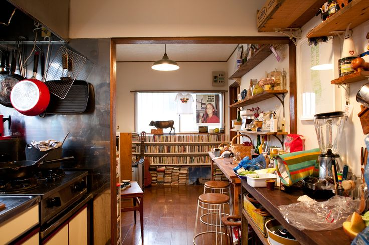 ncie continuation from living room to kitchen