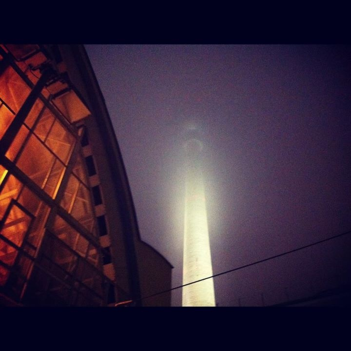 'Actually the ghost of Alexanderplatz was with me' // going back home from the Pinback gig; I was the only one in the train station. Midnight.. (November 14, 2011)