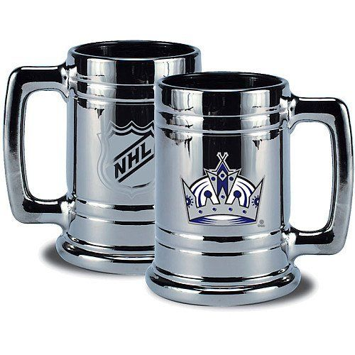 NHL Los Angeles Kings Chrome Stein by Mustang. $21.99. Collect your teams Championship Chrome Stein. Plated in silver and decorated with your teams embossed emblem on one side and the official NHL shield on the other.
