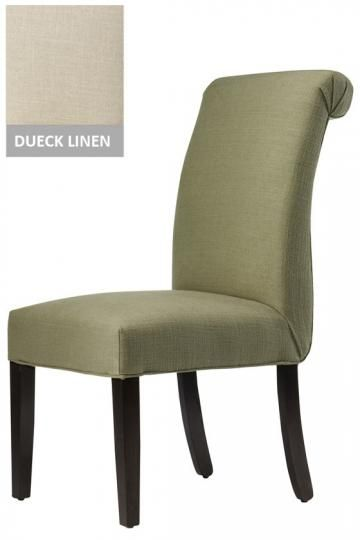 custom rolled back parsons chair dining room pinterest