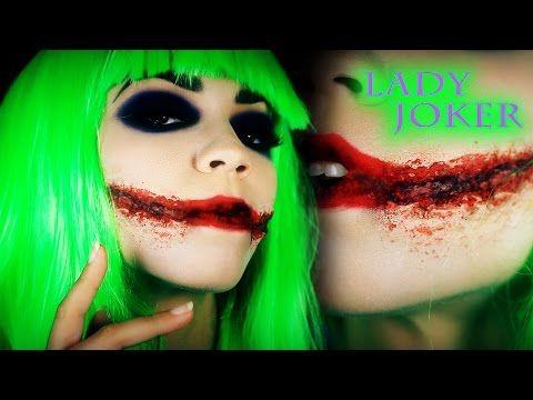 Joker Makeup Tutorial | Female Joker | Lady Joker Dark Knight Version - YouTube