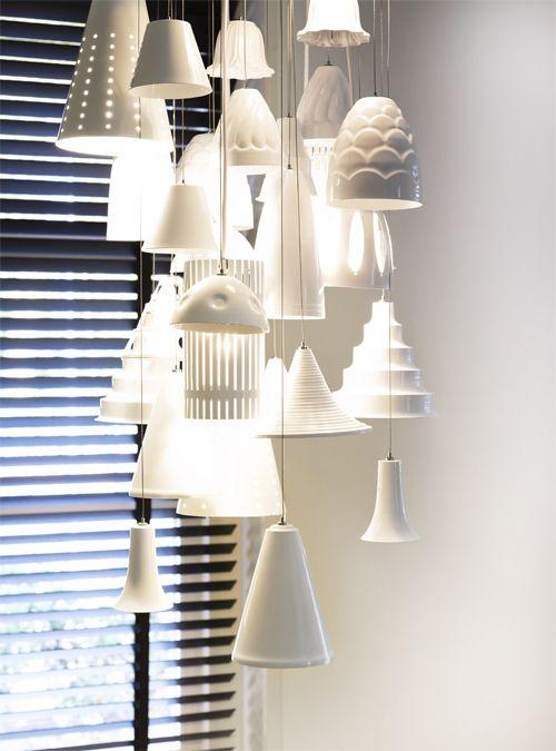 Witte hanglamp, meerde lampjes bij elkaar