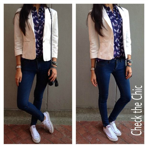 45 bu00e4sta bilderna om Outfits fashion con tenis pu00e5 Pinterest | Kavajer Converse outfits och Su00f6ner