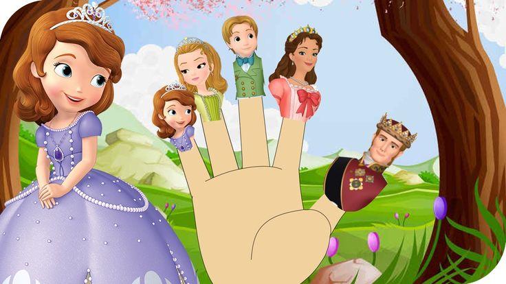 Finger Family Sofia The First Family Nursery Rhyme