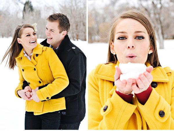 winter ideasEngagement Pictures, Winter Pictures, Photos Ideas, Snow Pictures, Engagement Pics, Engagement Shoots, Winter Engagement Photos, Bright Colors, Couples Shots