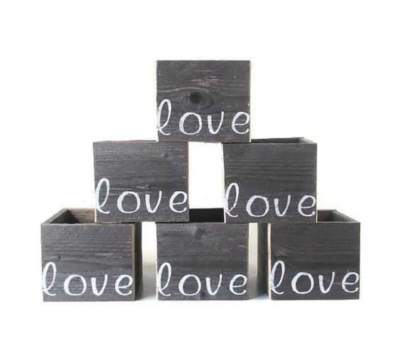 Rustic Wedding Centerpiece Boxes  6 Love by CountryByTheBumpkins