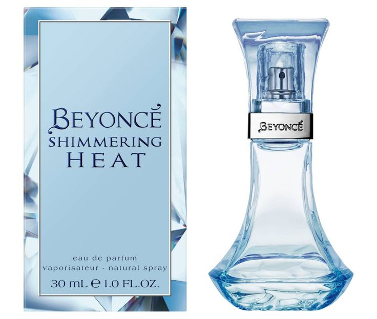 Beyoncé Shimmering Heat 2017 - Top notes: pink pepper, fresh green notes, freesia Heart: mystical blue orchid, jasmine, rose, lily of the valley Base: patchouli, oak moss, musk, vanilla