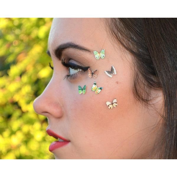 Tiny Temporary Tattoo Makeup Teen Girl Gift Temp Blue Eyeshadow Makeup... ($10) ❤ liked on Polyvore featuring accessories, body art, bath & beauty, eye shadows, eyes, makeup & cosmetics and red
