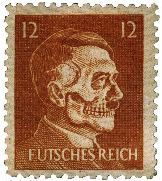 German postage stamp. Operation Cornflakes was a mission to trick the German postal service into inadvertently delivering anti-Nazi propaganda to German citizens.