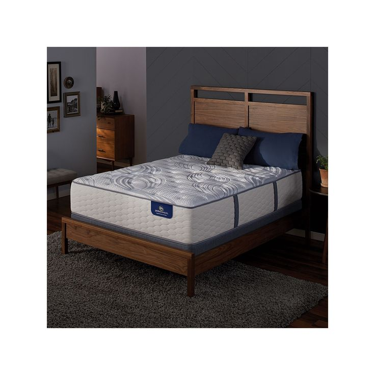 Serta Alima Terrace Plush Mattress & Box Spring Set, White